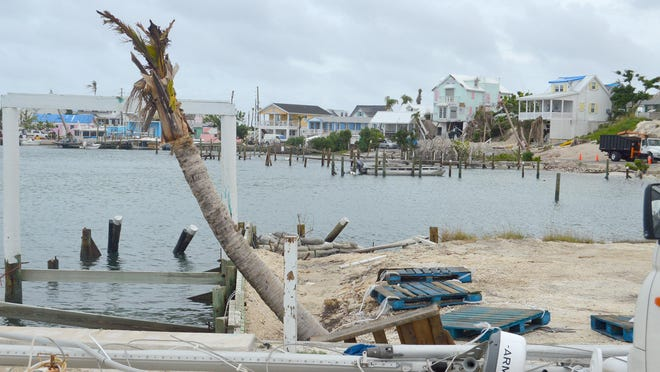 In early September, Hurricane Dorian destroyed docks in Hope Town, a Bahamian settlement on Elbow Cay in the Abacos.