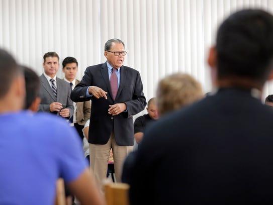 State Sen. José Rodríguez  visited with Eastwood High