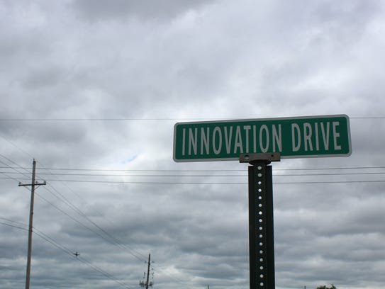A new road will extend Innovation Drive from where