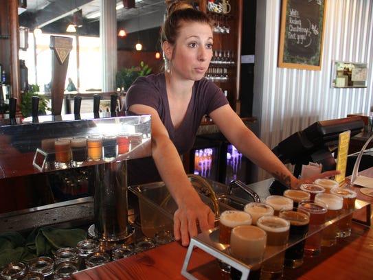 Server Adriana Smith at Seven Brides Brewing in Silverton
