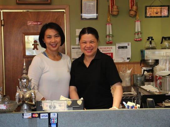 Thai Dish manager Oratai Cheepluesak and server Thunyaluck