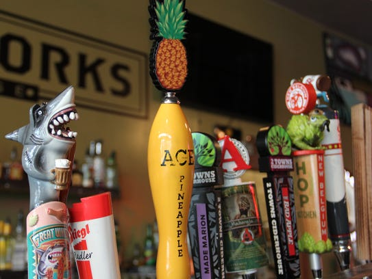 Kraftworks' 30 taps include several kombuchas, ciders