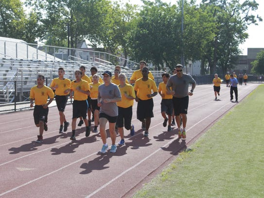 The Perth Amboy Police Department Youth Academy running