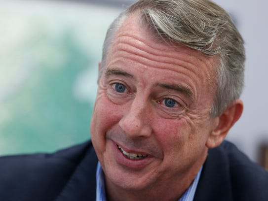 Ed Gillespie speaks during an interview on Sept. 26,