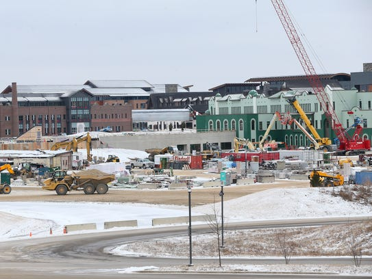 Construction continues at the expanding Epic corporate