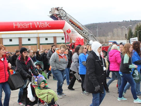 The Southern Tier Heart Walk was held on April 8.