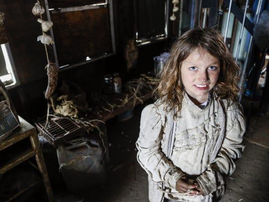 Sage Jarmosco, 8, of Fairfield plays a shape-shifter