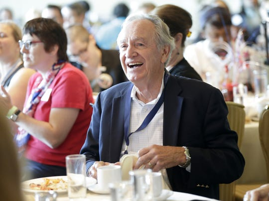 Tom Harkin smiles during an event celebrating the 26th anniversary of the Americans with Disabilities Act in Philadelphia on Tuesday, July 26, 2016. Harkin, a former U.S. senator from Iowa, was the chief advocate of the law.