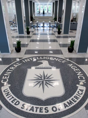 The Central Intelligence Agency logo is displayed in the lobby of CIA Headquarters in Langley, Virginia, in this August 14, 2008 file photo.