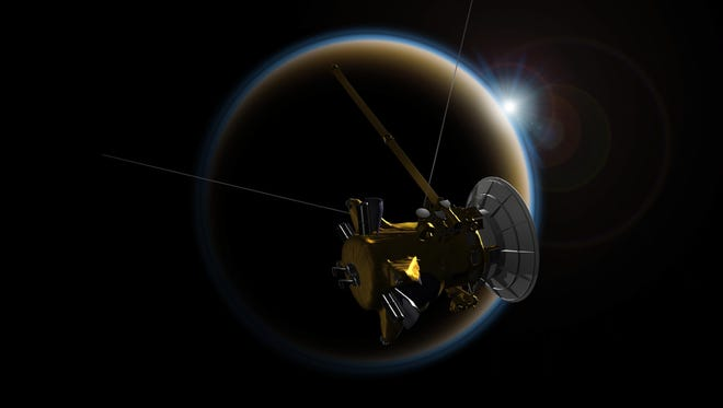 Cassini will make its final close flyby of Saturn's moon Titan on April 22, 2017, using its radar to reveal the moon's surface lakes and seas.