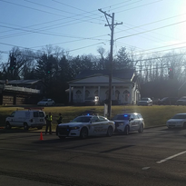 Police respond to the scene of a pedestrian hit on Dixie Highway in Park Hills, Kentucky.