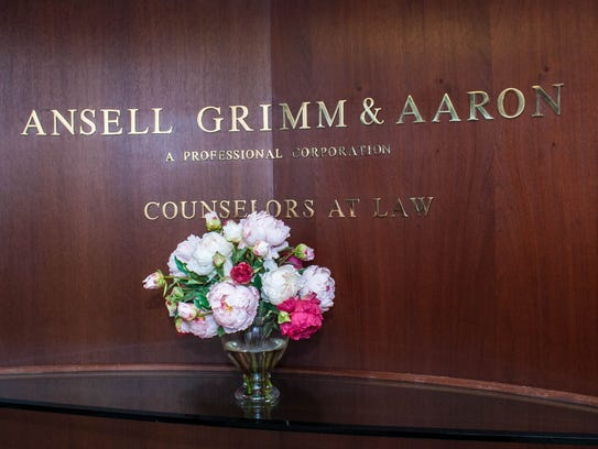 The entrance of Ansell Grimm & Aaron law firm. Wednesday,
