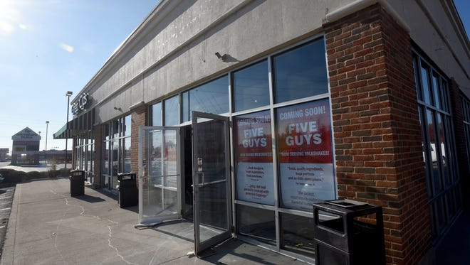 Five Guys Burgers and Fries is hoping to open a location on the 700 block of Hebron Road in mid-February 2018.