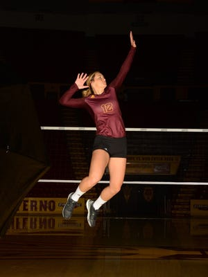 ASU senior outside hitter Macey Gardner had a combined 23 kills Saturday in wins over Western Michigan and Northern Colorado.