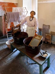 Roberta Perkins portrays Jane, a free black hired as a cook at Fort Delaware.