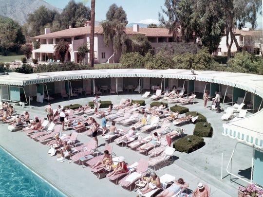 El Mirador Hotel pool, circa 1960.