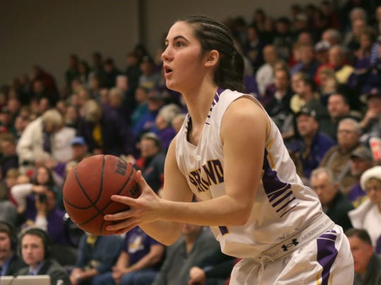 Former Crestview basketball player Renee Stimpert is the backup point guard for Ashland University as a freshman.