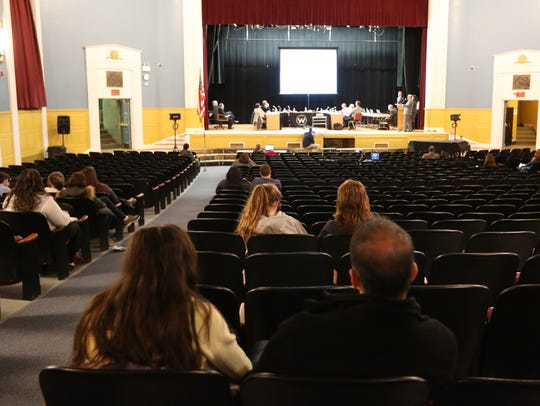 A Wappingers Central School District board meeting