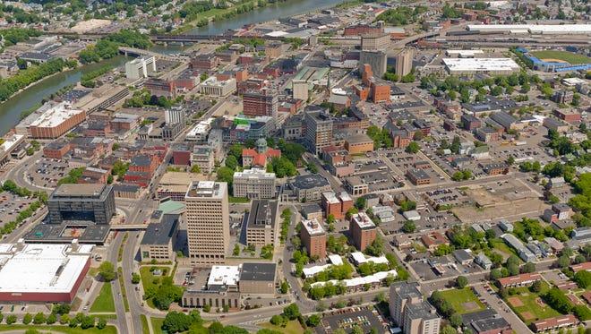 Binghamton downtown looking north