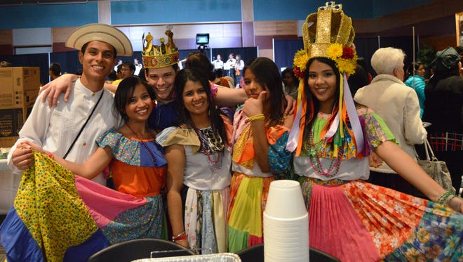 University of Nevada students at the 34th annual Night of All Nations on Nov. 18, 2016. The annual event is put on by the UNR International Club.