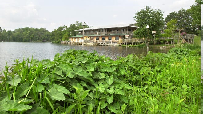 The picturesque setting on Lake Kincaid is one of the draws of Tunk's Cypress Inn, which celebrates 40 years in business this week.