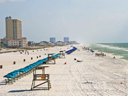 Gulf of Mexico shoreline Pensacola Beach Florida