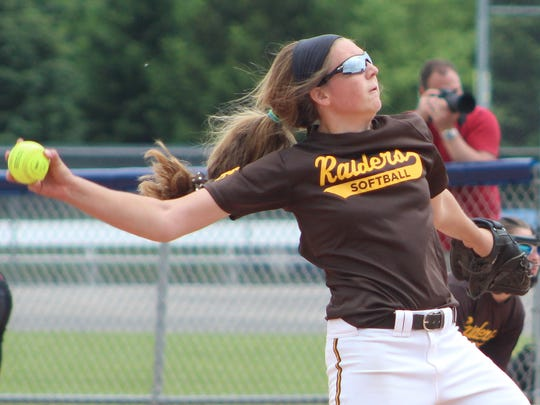 North Farmington junior Sam Cherney delivers a pitch in Saturday's Division 1 district championship loss to defending state champion Mercy.