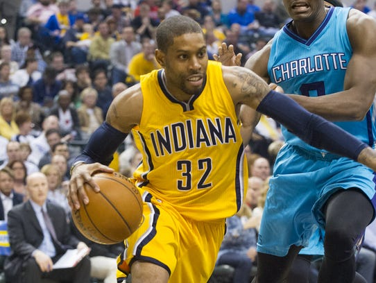 Indiana Pacers guard C.J. Watson (32), shown here in