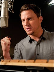 "Channing Tatum recording a scene from ""The Book of"
