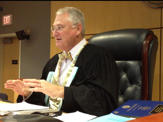 Judge David Silverman donned a matching vest and bowtie