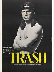 """A vintage """"Trash"""" poster."""