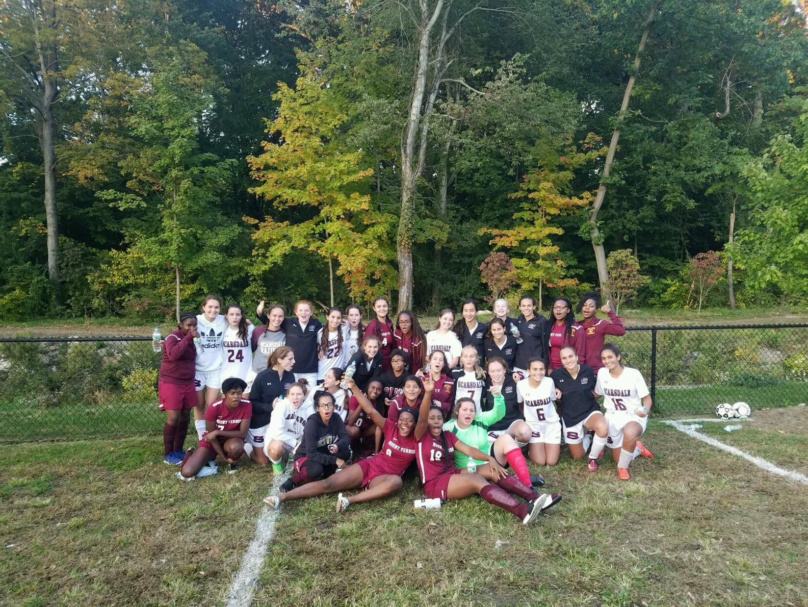 Scarsdale defeated Mount Vernon 6-0 on Thursday and to recognize the unsinkable enthusiasm of the Knights hung around for a postgame mixer.