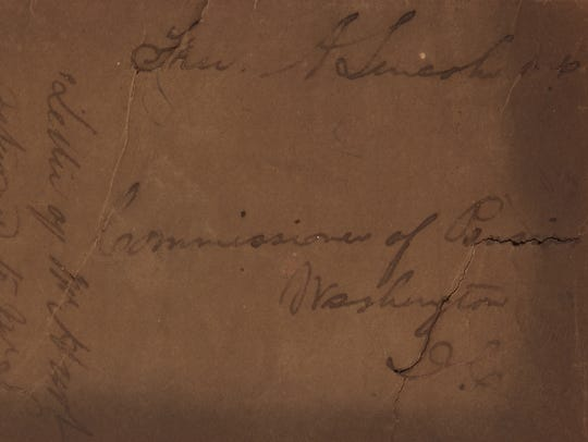 """An envelope franked by Lincoln as a congressman, 1849, is one of the dozens of items on auction in """"The Harold Holzer Collection of Lincolniana."""""""