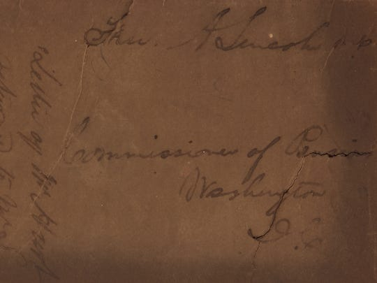"An envelope franked by Lincoln as a congressman, 1849, is one of the dozens of items on auction in ""The Harold Holzer Collection of Lincolniana."""