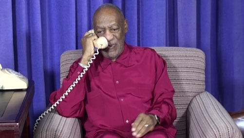 Bill Cosby calls on fans.