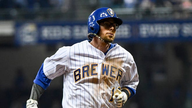 Brewers utility man Eric Sogard has been a hit for the Brewers in his 19 games so far this season.