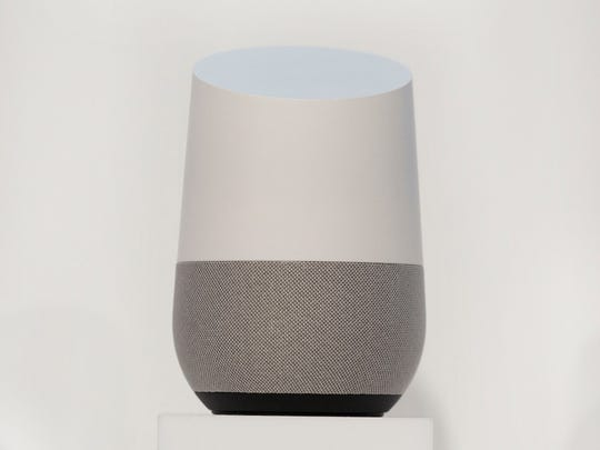 Google Home is a voice-activated speaker powered by