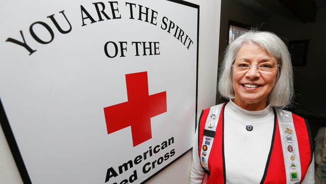 Red Cross nurse Suzi Roe started volunteering with the organization in 1967.
