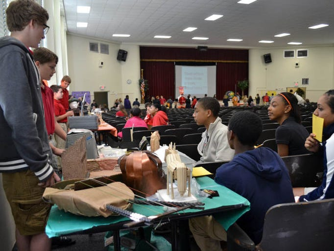 Petal Middle School seventh graders present projects Wednesday on selected countries from Ancient History during the Annual Ancient Civilization Museum in Petal Middle School Auditorium.