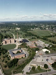An aerial view of Wayne County General Hospital, also