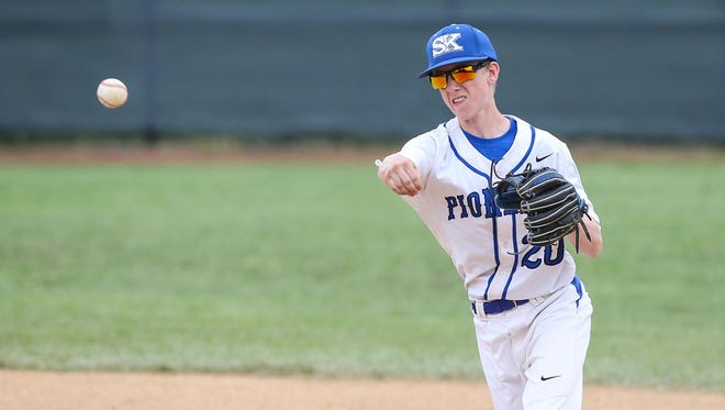 Bailey Martin had a big day on the mound Monday for Simon Kenton, tossing a complete-game three-hitter.