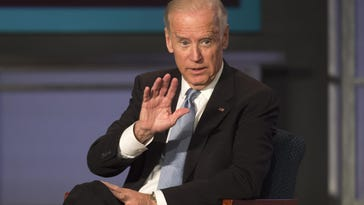 "Vice President Joe Biden speaks in Washington last October. Biden has been tasked by President Obama to help lead a ""moon shot"" effort to cure cancer."