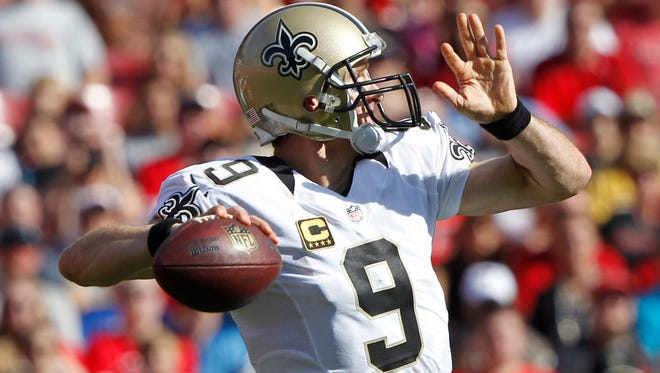 QB Drew Brees sent the Saints out on a winning note Sunday.