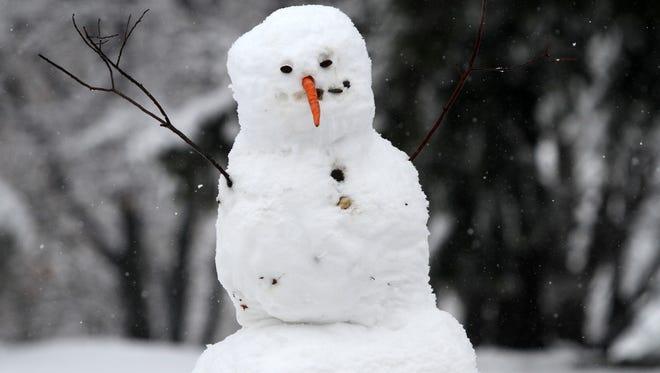 A snowman in Cranbury in a 2013 file photo.