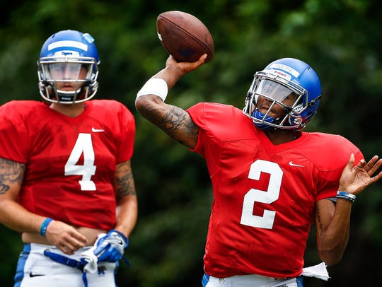 University of Memphis backup quarterback David Moore