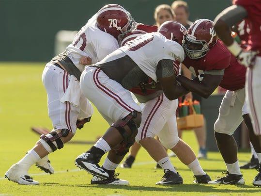 Alabama Football Practice Sept.22