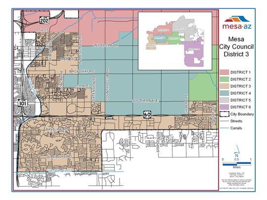 Mesa District 3 map