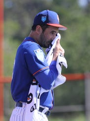 Mets workout this afternoon. Matt Harvey after pitching