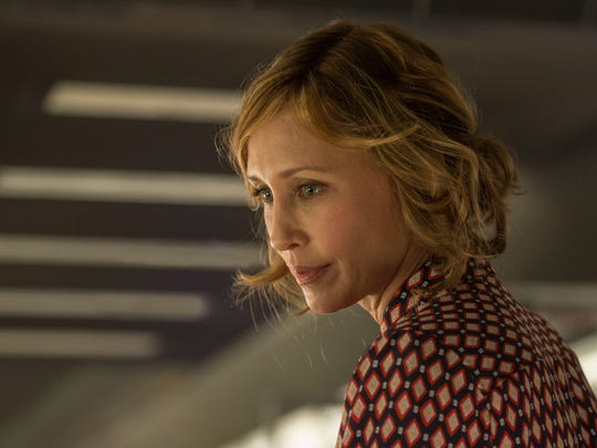 "Vera Farmiga as Joanna in ""The Commuter."""