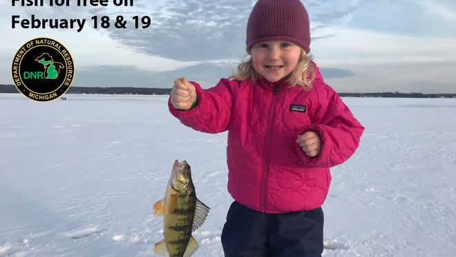 Everyone in Michigan is invited to fish for free on Saturday and Sunday.